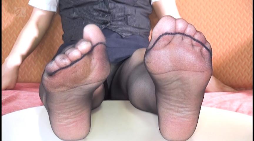 パンスト痴女の足裏フェチ